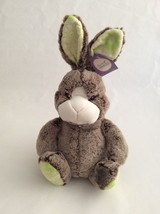 "ANIMAL ADVENTURE brown LARGE BUNNY RABBIT W/ FLOWER EARS & FEET 13"" East... - $18.69"