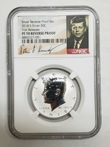 2018S Silver Kennedy 50¢ Half Dollar Signature PF70 Reverse Proof Coin SKU C14