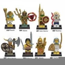 8pcs Medieval Egyptian Warrior Figures Pharaoh Atlantis Mummy Barbarian ... - $15.50