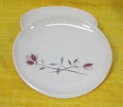 Franciscan Duet 1956-1961 Lot of 4 Bread & Butter Cake Plates Pink Rose Design - $29.69