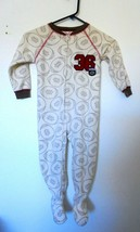 Carters Super Compfy Varsity 36 Blanket Footed Pajamas Boys 3T - $5.99