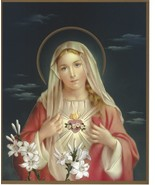 """Catholic Picture Print IMMACULATE HEART of MARY 8x10"""" Ready to be framed - $14.01"""