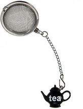 Prodyne Stainless Steel Tea Infuser With Black Teapot Ornament - $22.72