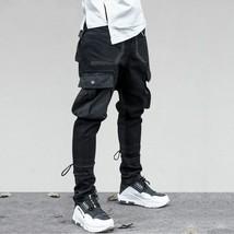 Side Pockets Harem Pants Mens Hip Hop Patchwork Cargo Ripped Sweatpants Joggers  - $59.16