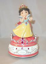 Snow White Precious Moments Music Box Seven Dwarves Disney Princess Prince NWOB - $42.56