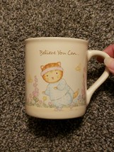 Believe You Can Weight Loss Workout Cat 1987 Hallmark K. C. Mo Coffee Mug - $19.99