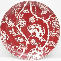 Neiman Marcus BATIKI Dinner Plate Red White10 1... - $17.34