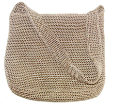 Ladies The Sak Crochet Handbag Bag Brown Single Strap Zipper Closure - $22.99