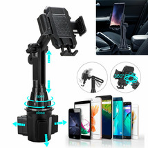 Adjustable Car Cup Phone Holder Clamp Mount Cradle For iPhone Samsung Un... - $33.90