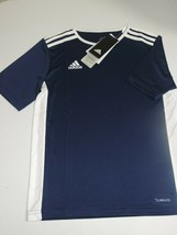 NEW Adidas Boy's T Shirt Entrada 18 CF1047 Football Sports Jersey Top Si... - $9.99