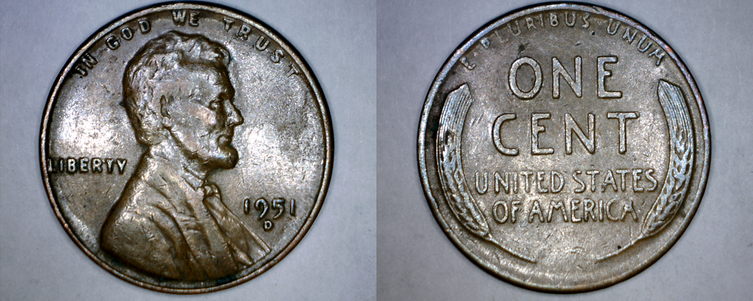 1951-D Abraham Lincoln Wheat Penny and 38 similar items