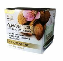 Almond Oil Anti Aging Eye Cream with Dead Sea Minerals and Vitamin A & E... - $21.59