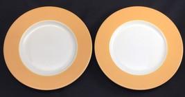 Set of 2 Pagnossin Ironstone Italy Salad Plates Yellow Orange Treviso 8 ... - $14.84
