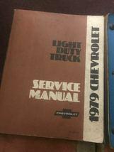 1979 Chevy Licht Duty Truck Shop Reparatur Service Manuell Set W Einheit + Teile image 3