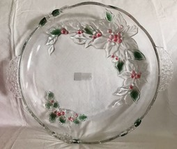 "Mikasa Holiday Bloom Serving Platter 15 3/4"" Never Used Germany Holly & Berries - $21.77"