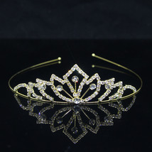 Cute Pearl Hair Jewelry Princess Tiaras and Crowns Kid Girl Crystal Head... - £6.21 GBP