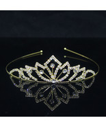 Cute Pearl Hair Jewelry Princess Tiaras and Crowns Kid Girl Crystal Head... - $10.34 CAD