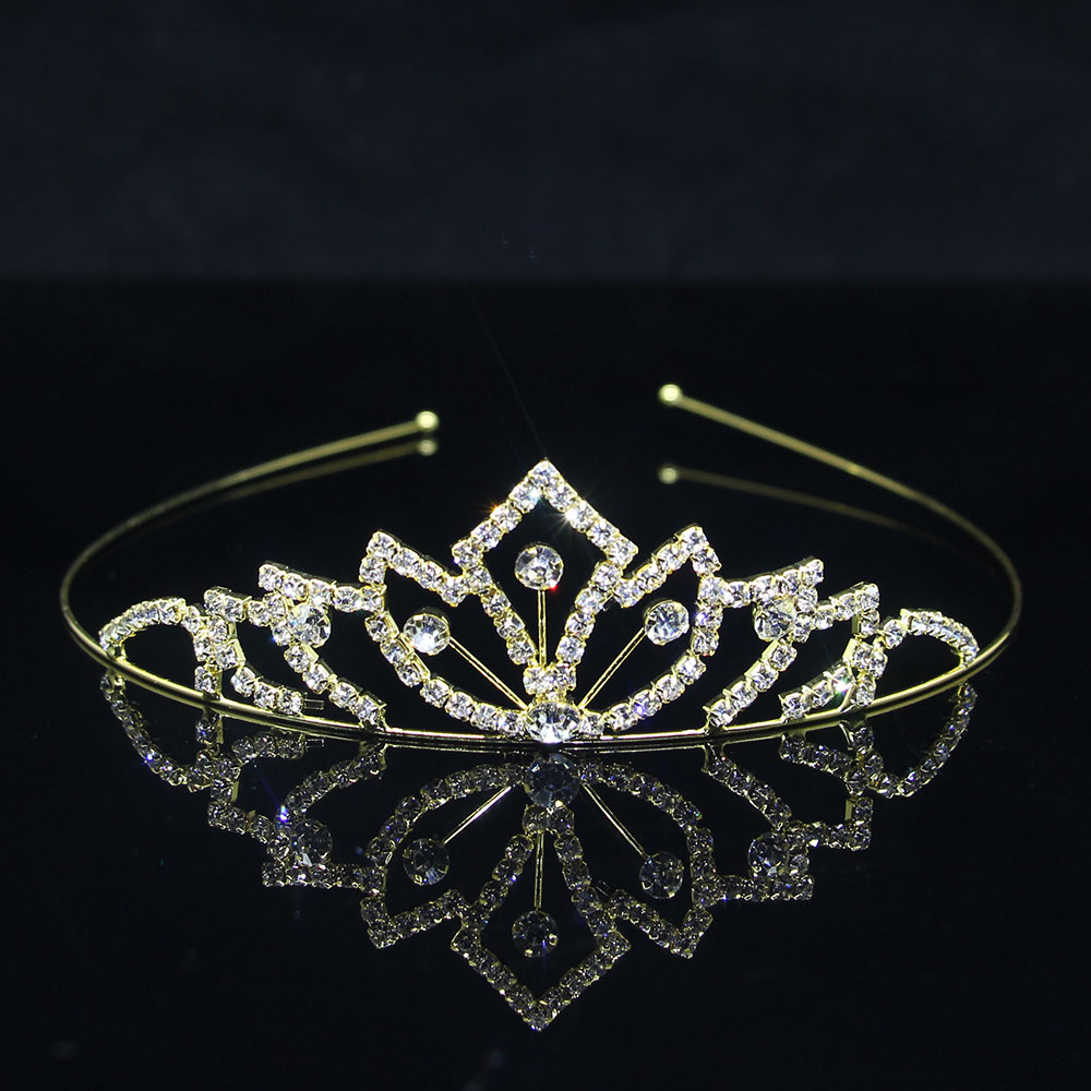 Primary image for Cute Pearl Hair Jewelry Princess Tiaras and Crowns Kid Girl Crystal Headband Bri