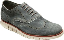 Cole Haan ZEROGRAND Wingtip Oxford (Men's Shoes) in Grey/Redwood/Brazili... - $208.95
