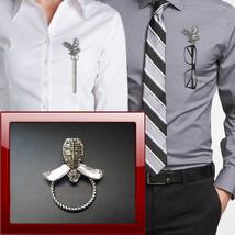 Kendo Mask PP-SP16 Pewter Pin Brooch Drop Hoop Holder For Glasses,Pen,Je... - $10.78
