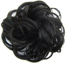 Natural Color Curly Messy Bun Hair Piece Scrunchie Hair Extension image 11