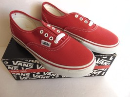 Vans Authentic Skate  Authentic Kids Red Size 13.5 - $39.59