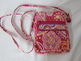 Vera Bradley Raspberry Fizz Mini Hipster Crossbody Bag Retired Unused Co... - ₹1,423.92 INR