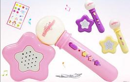 Kids Mic Carry Music Microphone And Speaker Karaoke Toys Pink/Yellow/Purple - $18.99