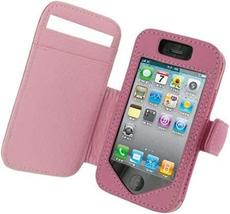 Monaco Book Type Pink Leather Cover Case W/Detachable Belt Clip For At&t... - $12.82