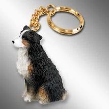 Australian Shepherd Tricolor w/Docked Tail Key Chain - $10.99