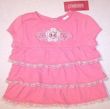 NWT Gymboree Infant Girl's Pink Tiered Top, Love Is In the Air, 3-6 Mos. - $7.99