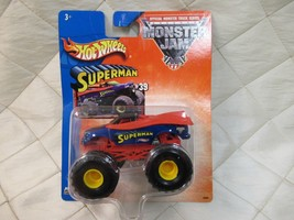 Hot Wheels Monster Jam Superman Monster Truck #39 2003 Sealed - $9.74