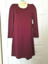 OLD NAVY Size Small Ponte Knit Shift Dress Maroon Long Sleeves NWT - $13.81