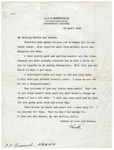 1945 WWII FLEET POST OFFICE POSTAL STATIONERY LETTER USS MINNEAPOLIS NAV... - $5.99