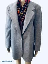 LL Bean Grey Wool Mohair blend Jacket 12  slit pockets - $43.54