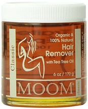 Moom Organic Hair Remover Refill, 6-Ounce Jars Pack of 2