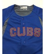 Chicago Cubs Youth M Baseball MLB True Fan Short-Sleeve Blue Jersey - $41.65
