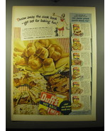 1948 Duff's Hot Roll Mix Ad - Throw away the cook book - get set for bak... - $14.99