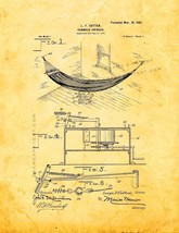 Hammock Patent Print - Golden Look - $7.95+