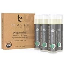 Organic Peppermint Lip Balm Pack - Natural Lip Balm Lip Repair With Shea... - $14.43