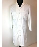 Vintage US Military Physician Lab Coat Smock White Size S Dowling Textil... - $24.95