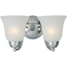 Bath 2 Light Vanity Nickel Iron Metal Indoor Glass Shade Hardwired Light... - $40.86