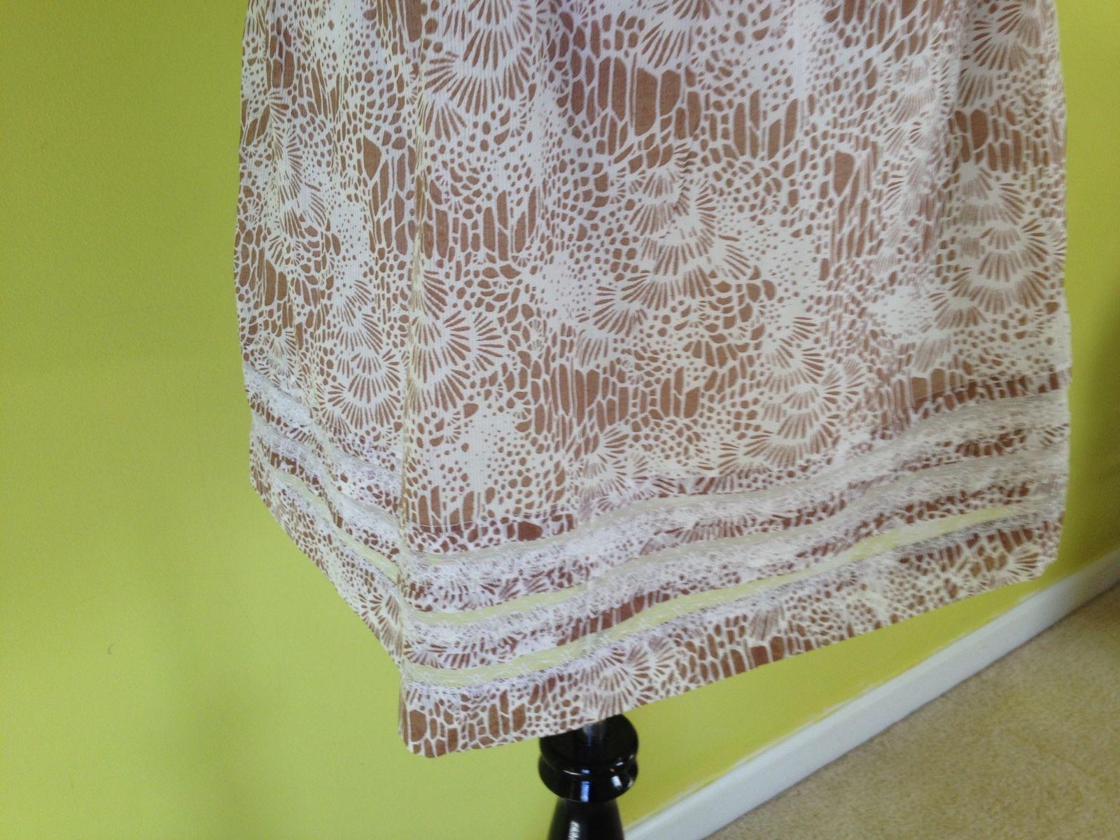NWT!! ANN TAYLOR brown White Floral Spaghetti Strap Empire Waist Dress Size 0