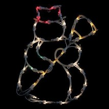 "15"" Lighted Snowman Double Sided Christmas Window Silhouette Decoration - $10.88"
