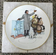 The Expert Salesman- Norman Rockwell - Limited Edition Gorham Collector Plate - $29.69