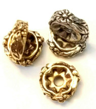 2 - Floral Spacer Fine Pewter Beads image 1