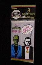 Universal Monsters Party Invites New In Pack 1991 Frankenstein Dracula - $15.00