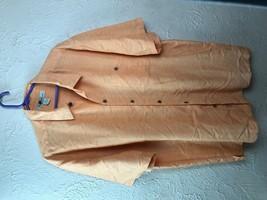 Joe Marlin Mens LARGE Hawaiian Shirt Short Sleeve Orange Button Down CAM... - $13.98