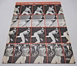 The 1975 Baltimore Orioles Official Scorecard Vintage - $9.78