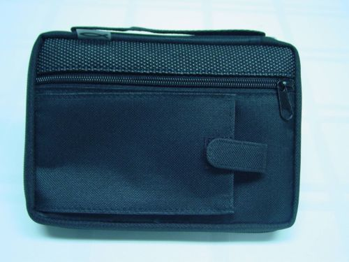X-Large Black Reinforced Canvas Bible Cover Case with Handle and Stationary
